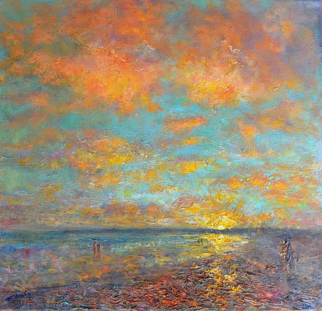 A beautiful original art work of a sunset