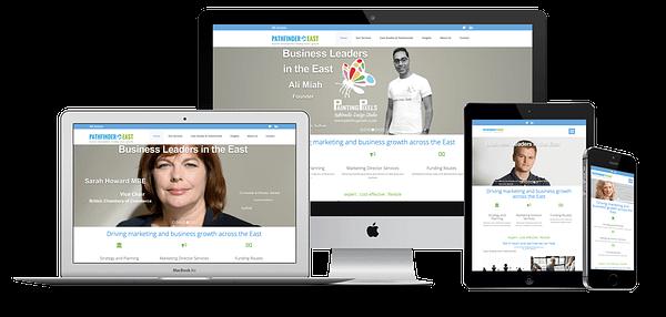 Path Finder East Website Design
