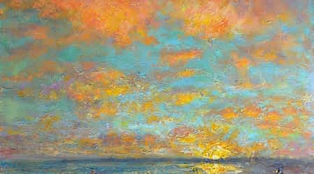 A beautiful original art work of a sunset