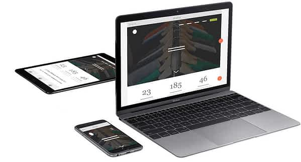 A laptop and mobile devices demonstrating website design