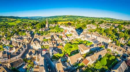 A picture of Hereford from the sky